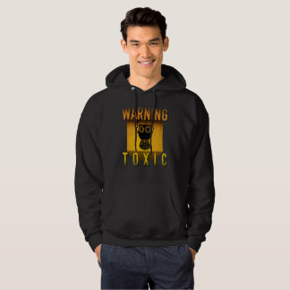 Toxic Warning Gas Mask Retro Atomic Age Grunge : Hoodie
