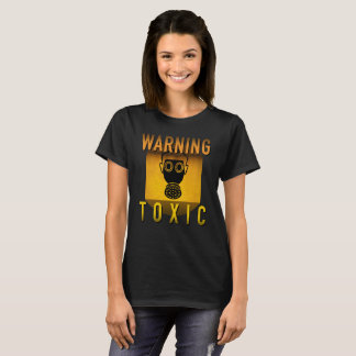 Toxic Warning Gas Mask Retro Atomic Age Grunge : T-Shirt