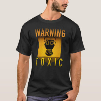 Toxic Warning Gas Mask Retro Atomic Age Grunge : T-Shirt