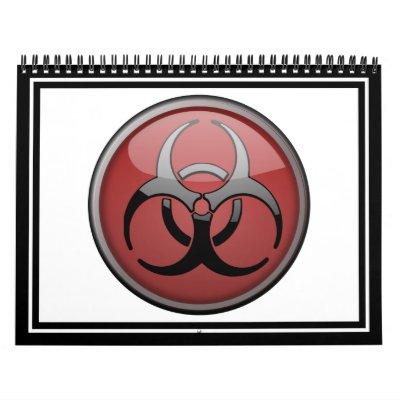 Toxique de BioHazard Calendrier Mural
