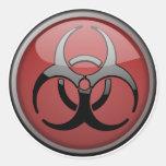 Toxique de BioHazard Sticker Rond