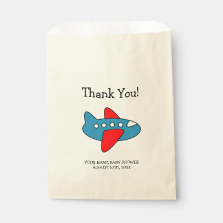 Toy airplane boys baby shower party favor bags