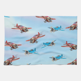 Toy Airplanes Pattern Kitchen Towel