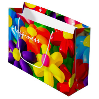 Toy Balloon Flowers Large Gift Bag