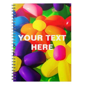 Toy Balloon Flowers Notebooks