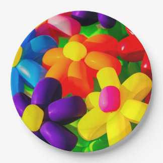 Toy Balloon Flowers Paper Plate