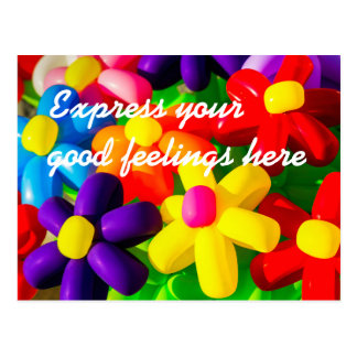 Toy Balloon Flowers Postcard