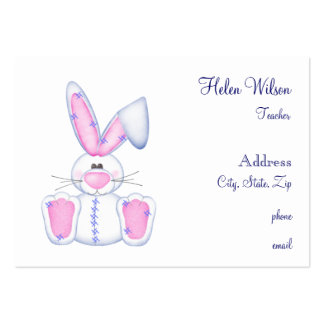 Toy Bunny Business Card Template