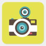 Toy Camera (Fisheye) Square Sticker