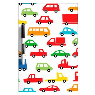 toy car pattern - automobile illustration dry erase board