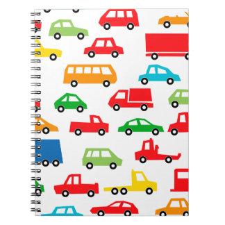 toy car pattern - automobile illustration notebook