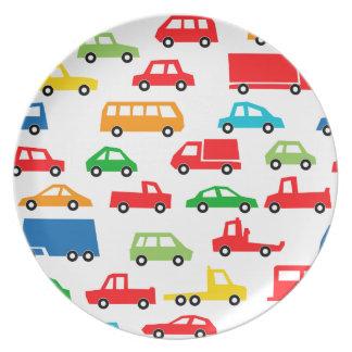 toy car pattern - automobile illustration plate