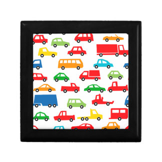 toy car pattern - automobile illustration trinket box