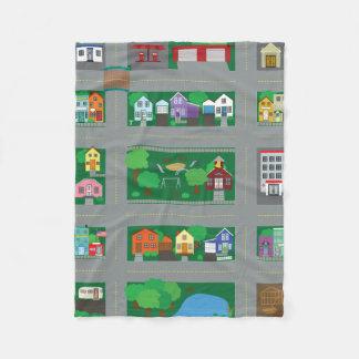 Toy Car Town Road Map Fleece Blanket