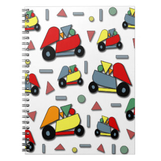 Toy cars pattern spiral notebook