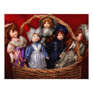 Toy - Dolls - A basket of Victorian dolls  Full Color Flyer