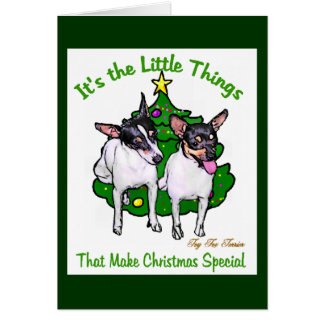 Toy Fox Terrier Christmas Gifts Card