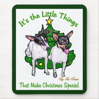 Toy Fox Terrier Christmas Gifts Mouse Pad