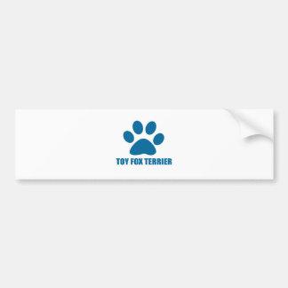 TOY FOX TERRIER DOG DESIGNS BUMPER STICKER