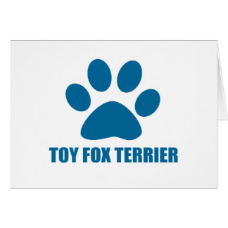 TOY FOX TERRIER DOG DESIGNS CARD