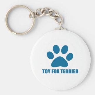 TOY FOX TERRIER DOG DESIGNS KEYCHAIN