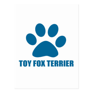 TOY FOX TERRIER DOG DESIGNS POSTCARD