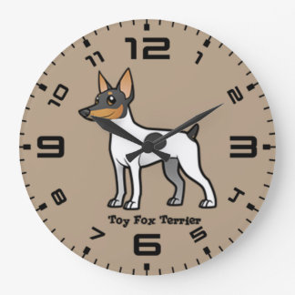 Toy Fox Terrier Large Clock