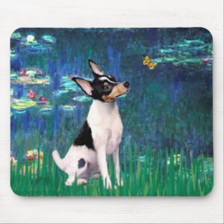Toy Fox Terrier - Lilies 5 Mouse Pad