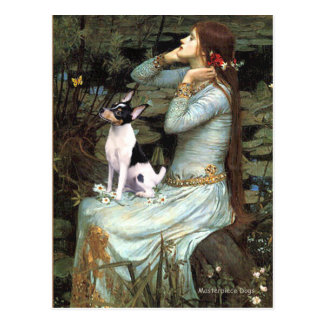 Toy Fox Terrier - Ophelia Seated Postcard