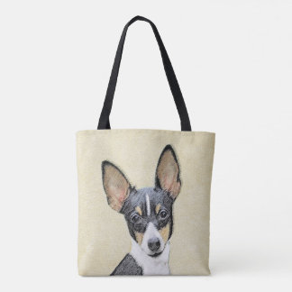 Toy Fox Terrier Painting - Cute Original Dog Art Tote Bag