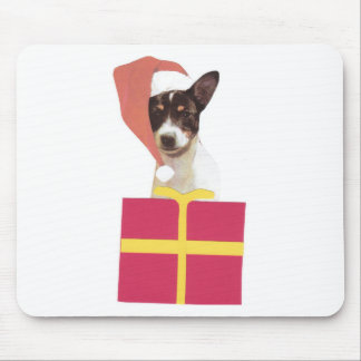 Toy Fox Terrier Santa Hat Mouse Pad