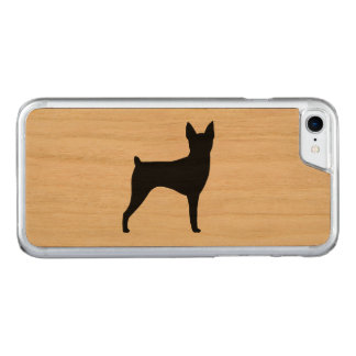 Toy Fox Terrier Silhouette Carved iPhone 8/7 Case