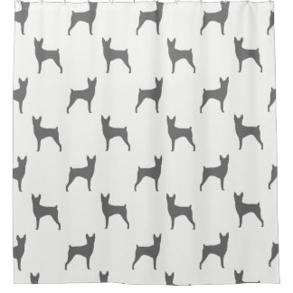 Toy Fox Terrier Silhouettes Pattern