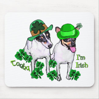 Toy Fox Terrier St Pattys Mouse Pad