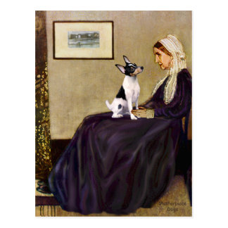 Toy Fox Terrier - Whistler's Mother Postcard