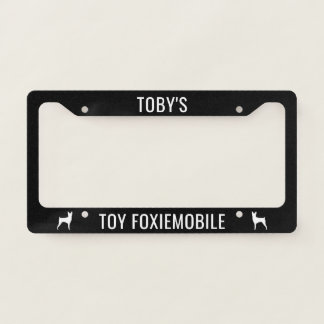 Toy Foxiemobile Toy Fox Terrier Silhouettes Custom License Plate Frame