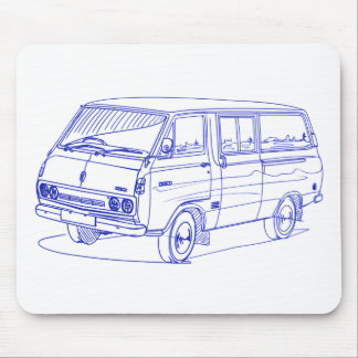 Toy Hiace 1975+ Mouse Pad