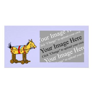 Toy Horse Custom Image Photo Card