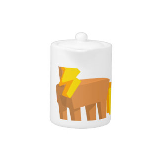 Toy Horse Drawing Isolated On White Background.