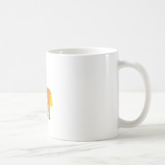 Toy Horse Drawing Isolated On White Background. Coffee Mug