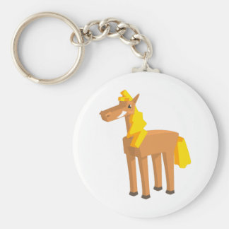Toy Horse Drawing Isolated On White Background. Keychain