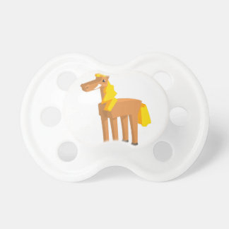 Toy Horse Drawing Isolated On White Background. Pacifier