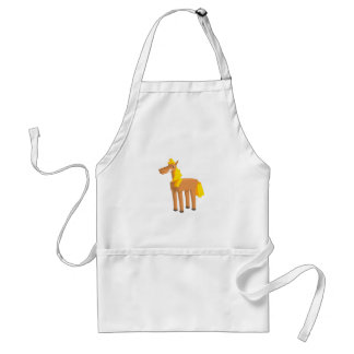 Toy Horse Drawing Isolated On White Background. Standard Apron