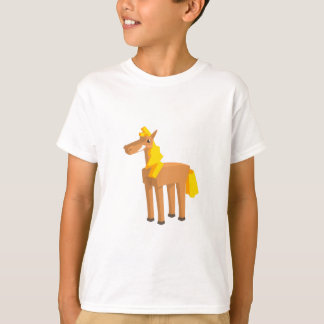 Toy Horse Drawing Isolated On White Background. T-Shirt