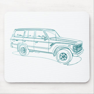 Toy LandCruiser FJ60 1980-90 Mouse Pad