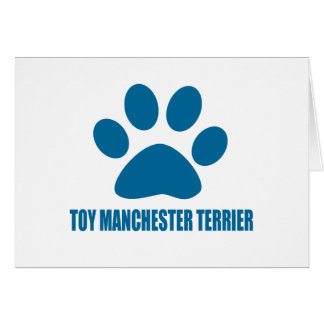TOY MANCHESTER TERRIER DOG DESIGNS CARD