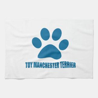 TOY MANCHESTER TERRIER DOG DESIGNS KITCHEN TOWEL