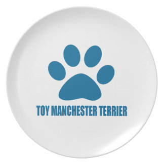 TOY MANCHESTER TERRIER DOG DESIGNS PLATE