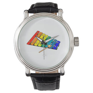 toy metal xylo graphic drum wristwatches
