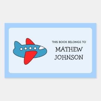Toy plane book label stickers | School supplies